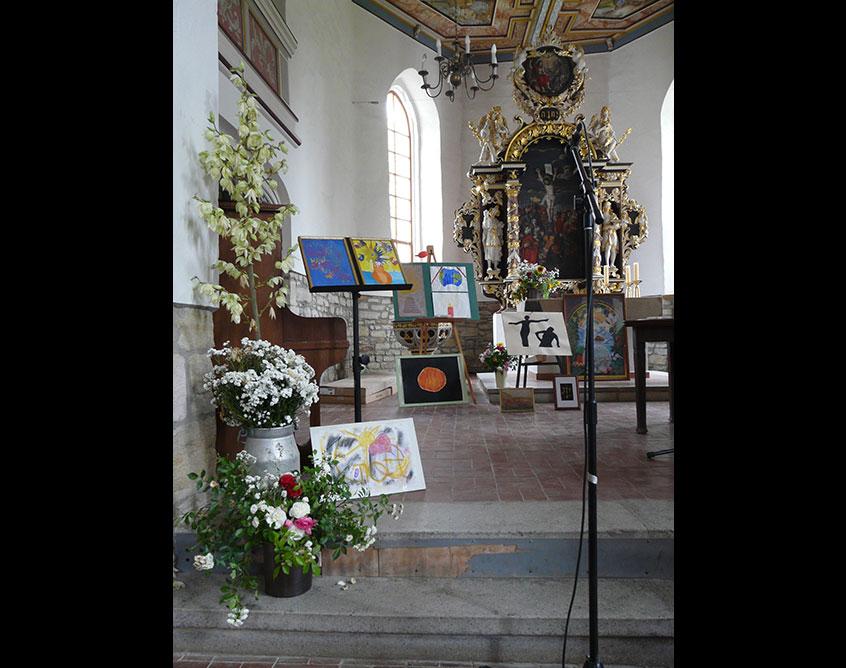 Bilderausstellung in der Kirche Pölzig