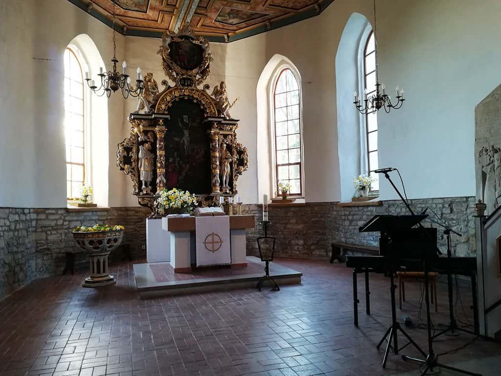 Im Inneren der Kirche Pölzig
